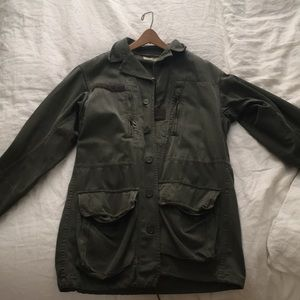 Urban outfitters army green coat